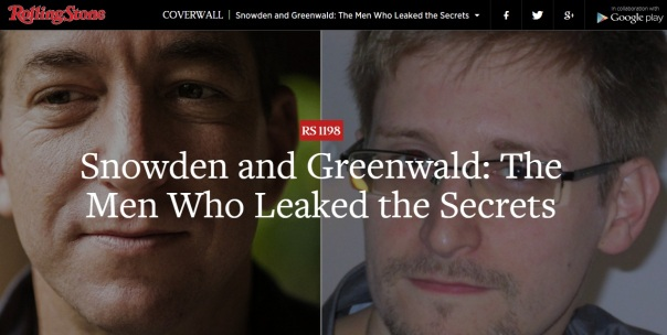 Snowden and Greenwald